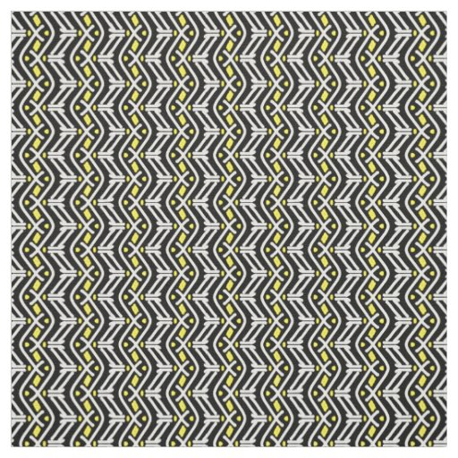 Funky Zigzag Chevron Pattern in Yellow and White
