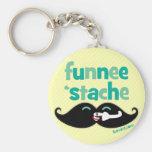 Funnee Stache Key Chain