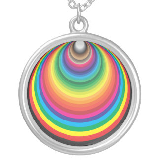 FUNNEL COLOR SWATCH 2 ROUND PENDANT NECKLACE