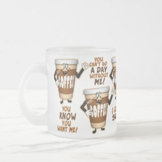 Funniest Coffee Frosted Glass Coffee Mug