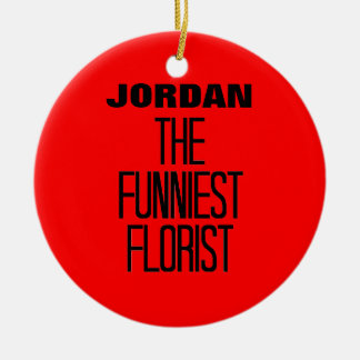 Funniest Florist Christmas Ornament