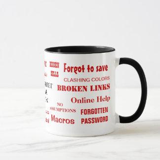 Funniest Spreadsheet Mig Annoying Swear Words Joke Mug