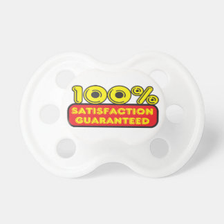 Funny 100% satisfaction sign dummy