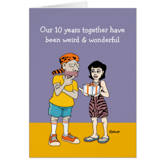 Funny 10th Wedding Anniversary Card