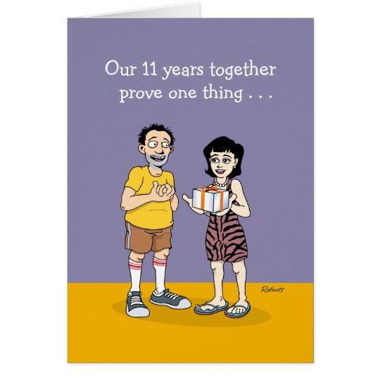 Funny 11th Anniversary Card