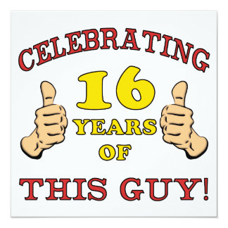 Funny 16th Birthday For Boys Card