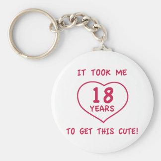 Funny 18th Birthday Gifts (Heart) Key Ring
