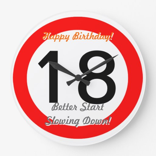 Funny 18th Birthday Joke 18 Road Sign Speed Limit Wall