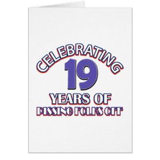 FUNNY 19 year birthday designs Greeting Card
