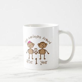 Funny 1st Wedding Anniversary Gifts Basic White Mug