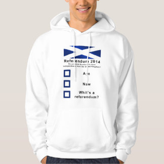 Funny 2014 Referendum on Scotland's Independence Hooded Pullover
