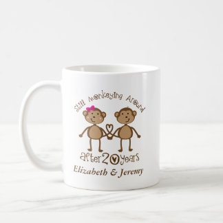 Funny 20th Wedding Anniversary His Hers Mugs