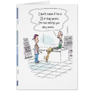 Funny 21st Birthday Card! Card