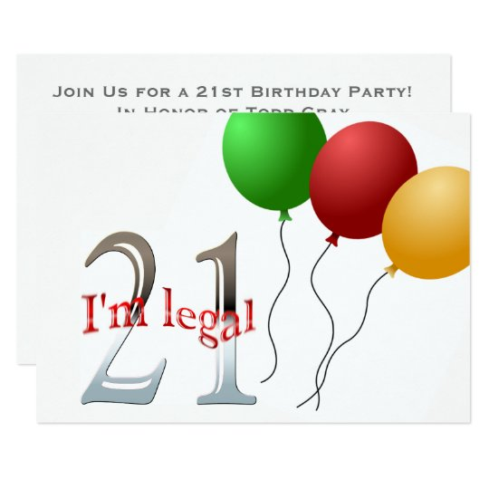 Funny 21st Birthday Party | 21 Legal Age