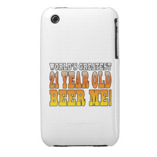 Funny 21st Birthdays : Worlds Greatest 21 Year Old iPhone 3 Case-Mate Cases