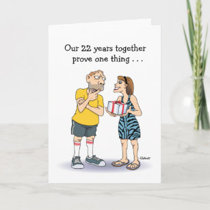 Funny 22nd Anniversary Card & Funny 22nd Anniversary Gifts u0026 Gift Ideas | Zazzle UK