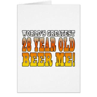 Funny 28th Birthdays : Worlds Greatest 28 Year Old Greeting Card