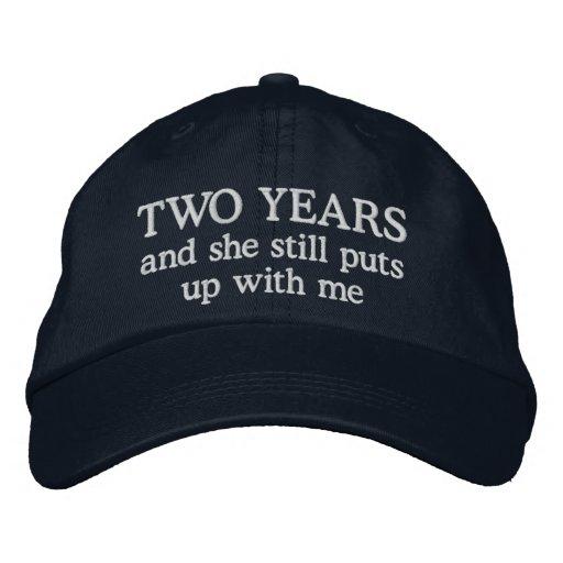 Funny 2 Year Anniversary Husband Hat Gift Cap
