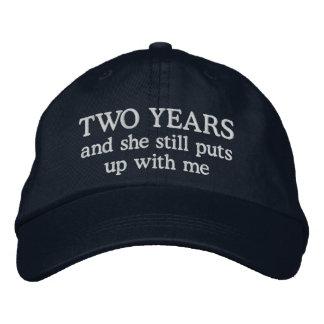 Funny 2 Year Anniversary Husband Hat Gift Cap Baseball Cap