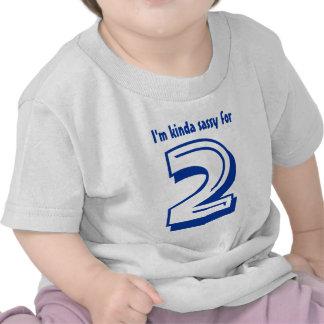 Funny 2nd Birthday Tee Kinda Sassy 2 Year Old