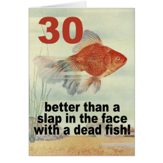 Funny 30th cards