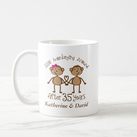 Funny 35th Wedding Anniversary His Hers Mugs