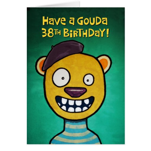 Funny 38th Birthday Card for Her