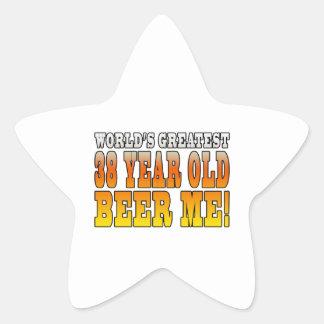 Funny 38th Birthdays : Worlds Greatest 38 Year Old Star Sticker