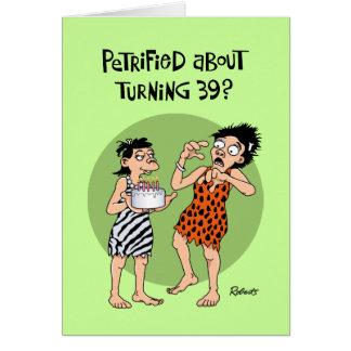 Funny 39th Birthday Card Women