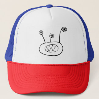 Funny 3 eyed monster trucker hat
