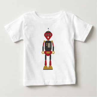 Funny 3-Eyed Retro Robot Baby T-Shirt