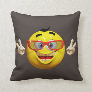 Funny 3d  emoticon throw pillow