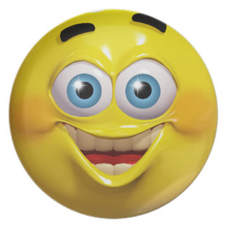 Funny 3d smiley emoticon plate