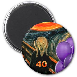Funny 40th Birthday 6 Cm Round Magnet