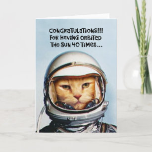 Funny 40th Birthday Card