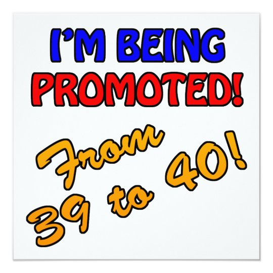 Funny 40th Birthday Gag Gifts Card