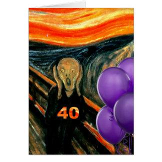 Funny 40th Birthday Greeting Card