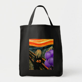 Funny 40th Birthday Grocery Tote Bag