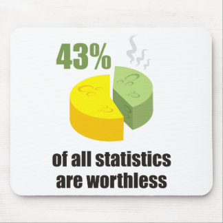 Funny - 43% of all statistics are worthless mousepad
