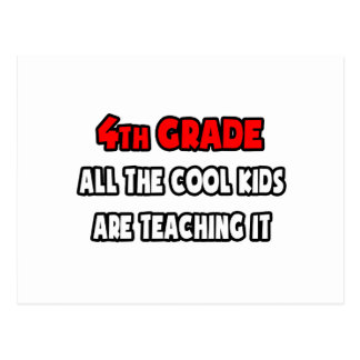 Funny 4th Grade Teacher Shirts and Gifts Post Cards