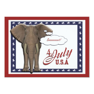 """Funny 4th July independence day 5"""" X 7"""" Invitation Card"""