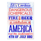 Funny 4th of July BBQ Party   Humourous Barbecue Card