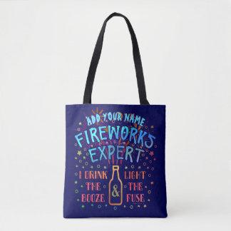 Funny 4th of July Independence Fireworks Expert V2 Tote Bag