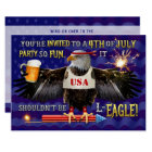 Funny 4th of July Party   Eagle Beer Fireworks Card