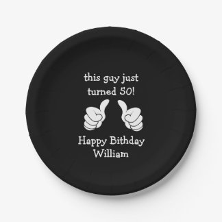 Funny 50 th Birthday Party Plates 7 Inch Paper Plate