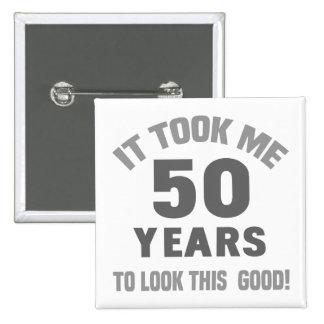 Funny 50th Birthday 15 Cm Square Badge