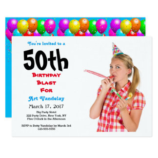 Funny 50th Birthday Blast Invitation