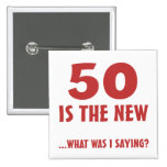 Funny 50th Birthday Gag Gifts 15 Cm Square Badge