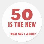 Funny 50th Birthday Gag Gifts Round Sticker