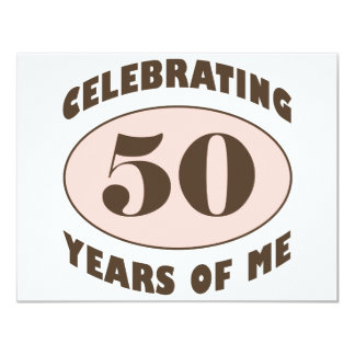 Funny 50th Birthday Gifts 11 Cm X 14 Cm Invitation Card